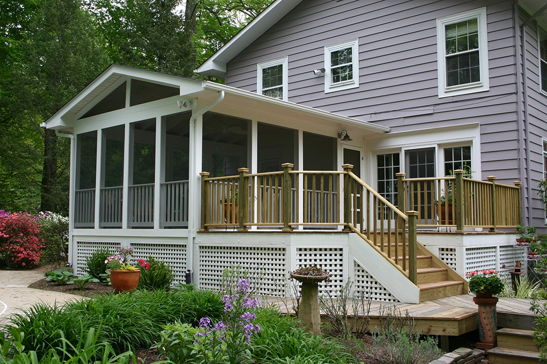 Sundecks inc deck patio contractor northern virginia for Porch sunroom